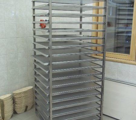 Rozsdamentes acél sütőkocsik